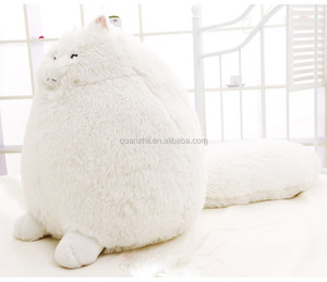 Factory supply custom hot sale long tail and fat cat plush toys