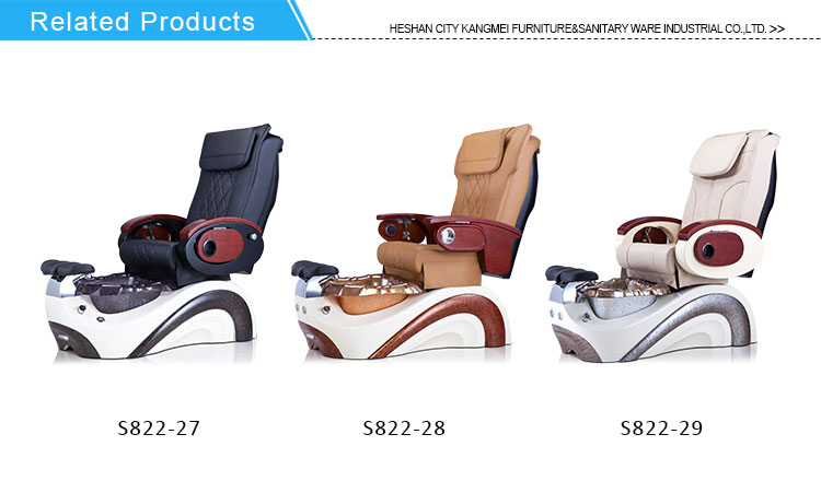 Nail Salon Manufactures White Modern No Plumbing Foot Spa Massage  Chair Luxury Pedicure Spa Chair For Sale