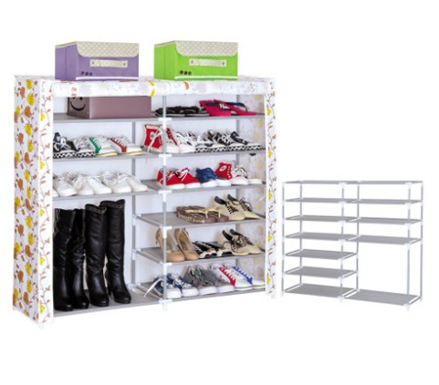 PN dust-proof shoe rack high quality customize sliding door waterproof non woven fabric cheap modern shoes storage cabinet