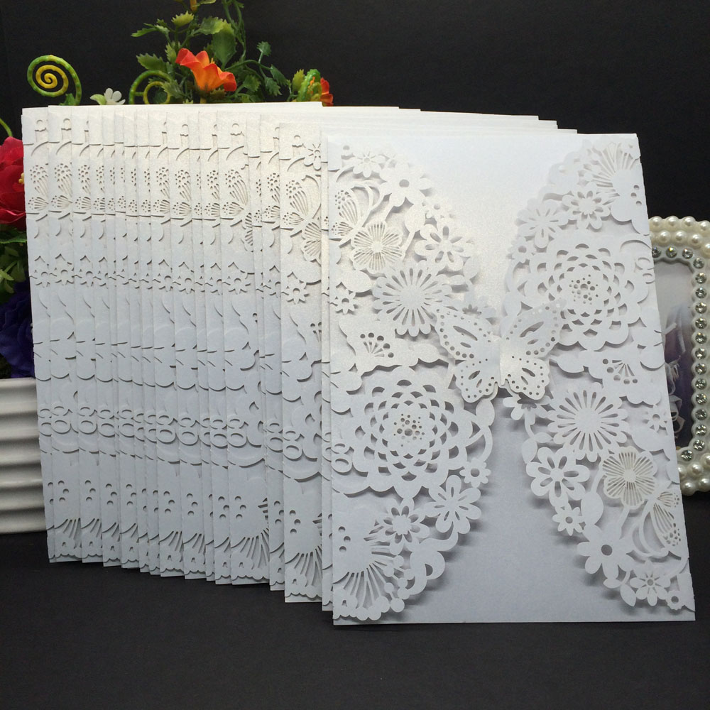 Delicate Carved Erlies Wedding Party Invitation Card Envelope Invitations For Business Birthday Greeting E Cards