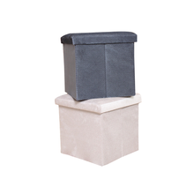 Hot sale storage furniture fabric foldable ottoman pouf foam cube ottoman
