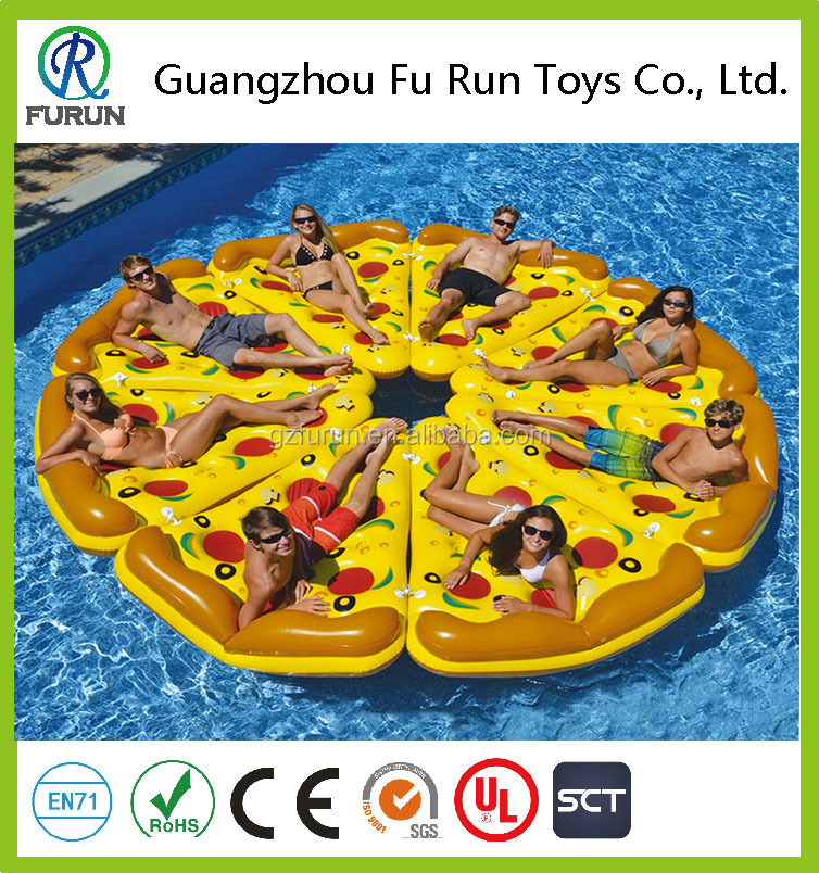 Wholesale inflatable pizza pool float for adults swimming pool float