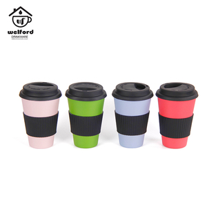 High Performance-price Food Grade Bamboo Fiber Coffee Cup With Lids