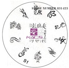 2015 S Series S1 Nail Polish DIY Stamping Plates Stainless Steel plate Nail Art Image Stamp
