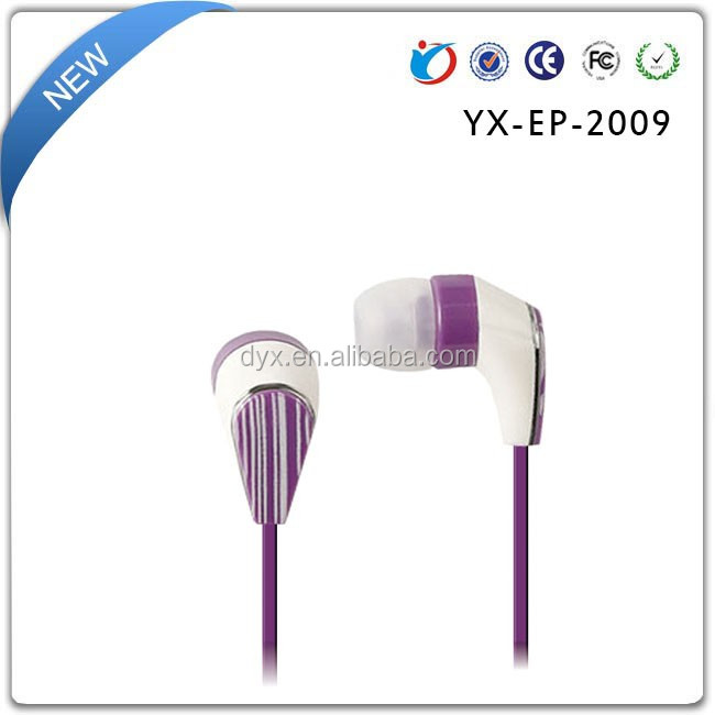 Newest Fashion Fully Compatible with all flat cable Handsfree Earphone with Mic for iphone/samsung/xiaomi