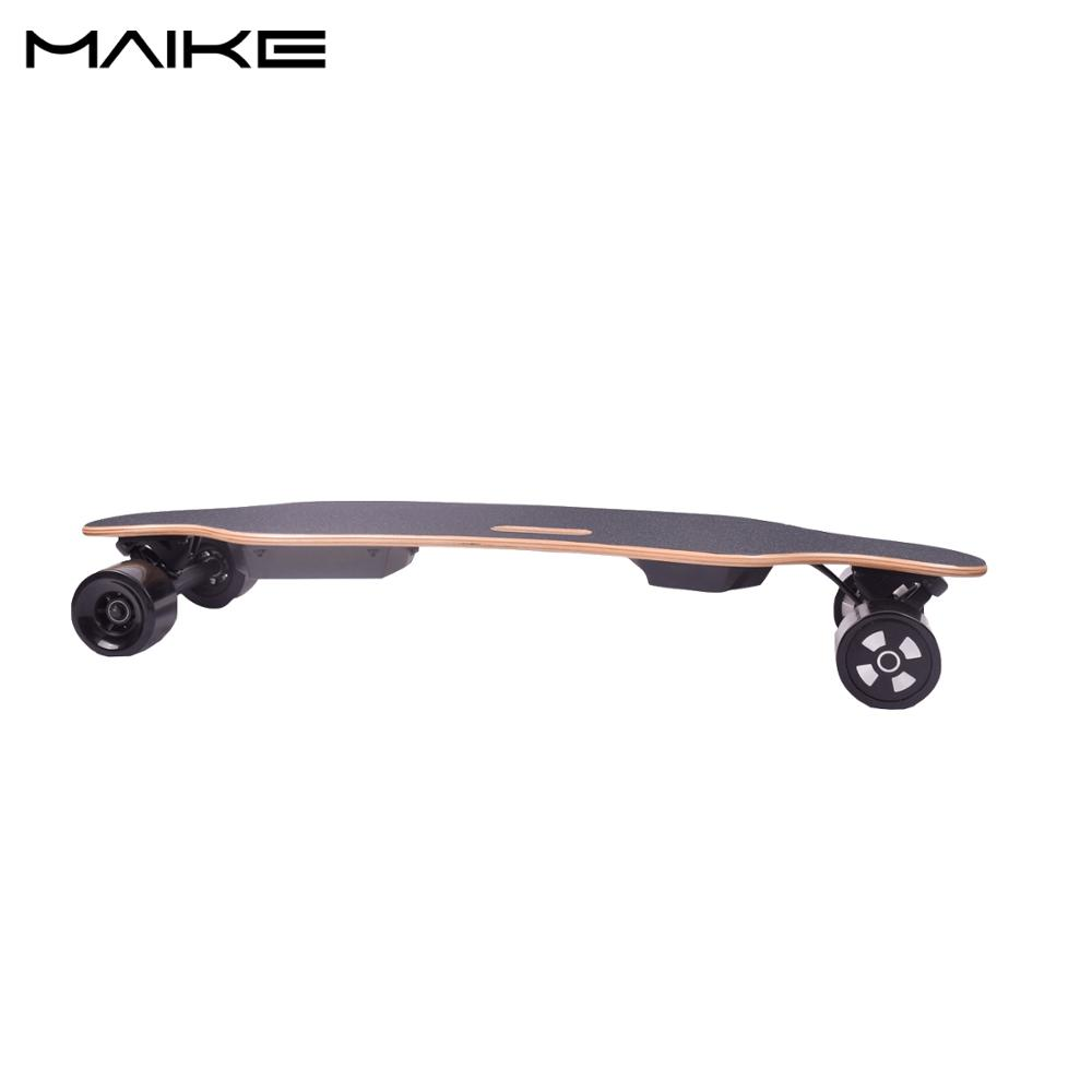 2018 the best maple deck China factory wholesale dual motor boosted longboard electric skateboard