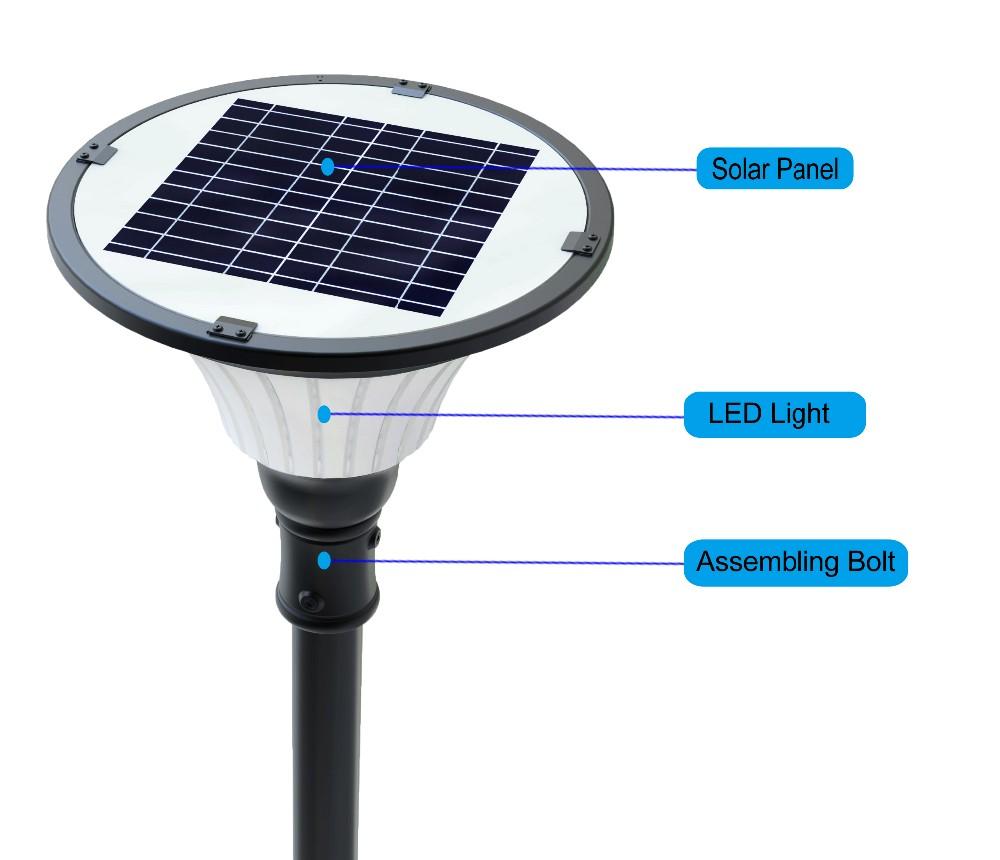 pole mounted pure white led solar outdoor lights for parking lot buy. Black Bedroom Furniture Sets. Home Design Ideas