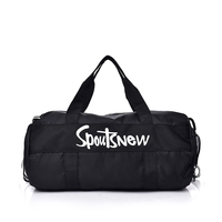 custom logo waterproof nylon basketball Sports Travel Duffel Gym Bag With Shoulder Strap