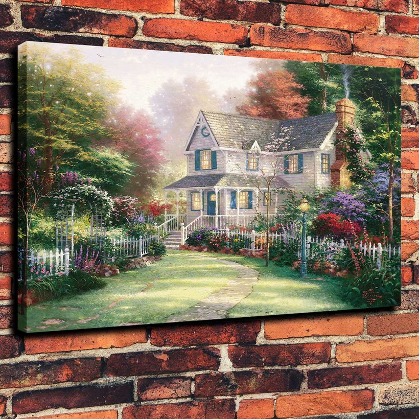Canvas Prints Wall Art Decorative Painting Western Home Decor for Victorian Garden II( No Framed )