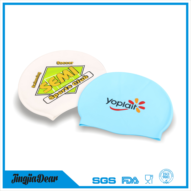Adult Kids Size Custom Printing Silicone Swim Cap, Funny Swimming Cap Silicone