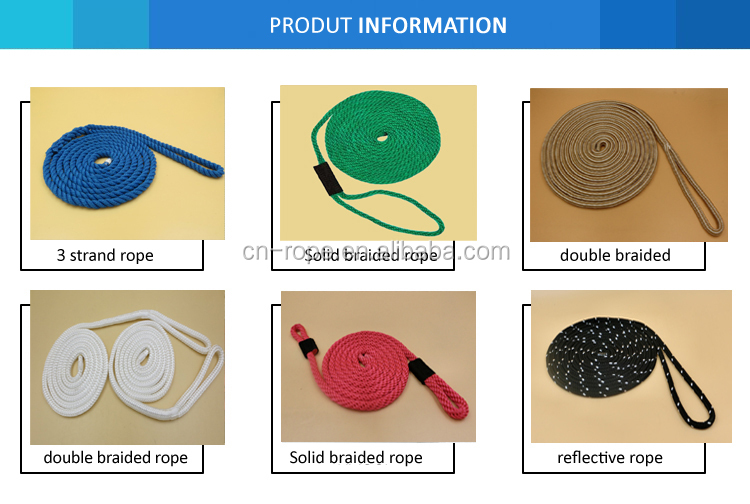 Yacht rope and sailing rope UHMWPE polyester boat parts marine rope