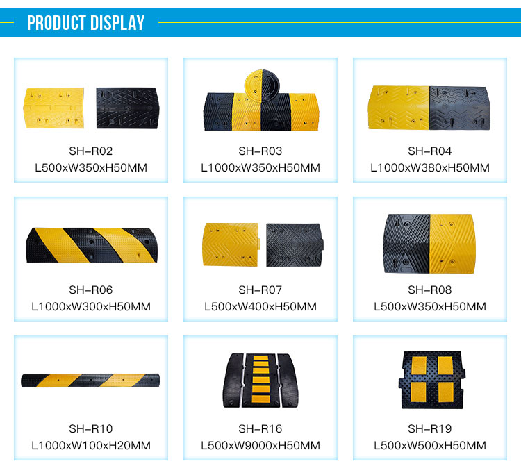 Safety Road Durable Roadway Rubber Speed Bump