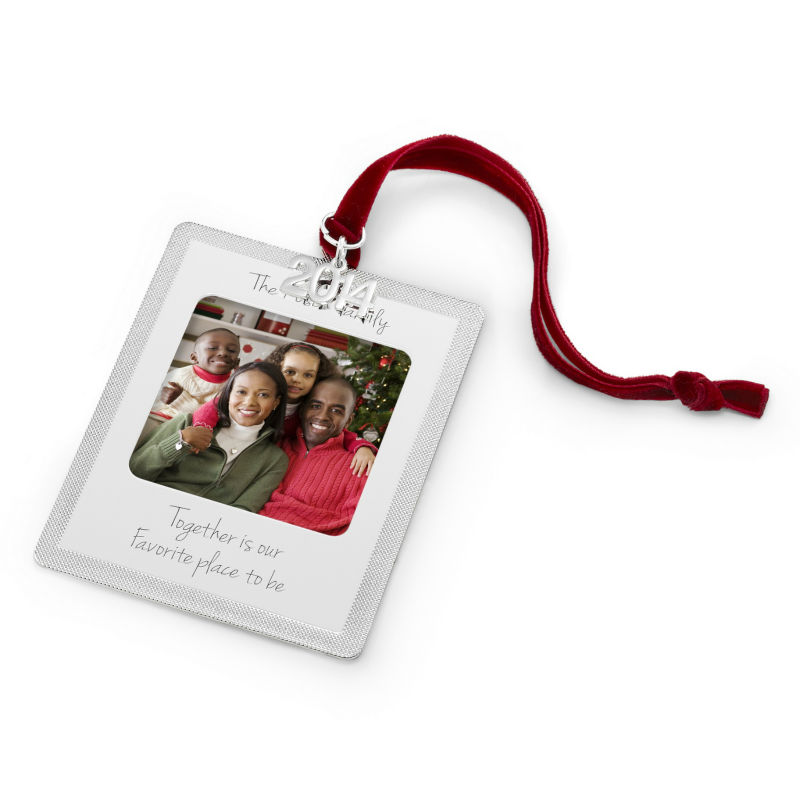 2017 Classic Engraved Photo Frame Christmas Ornament Mini Frame ...