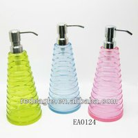 Colorful purple bathroom set hotel soap dispenser pump tops
