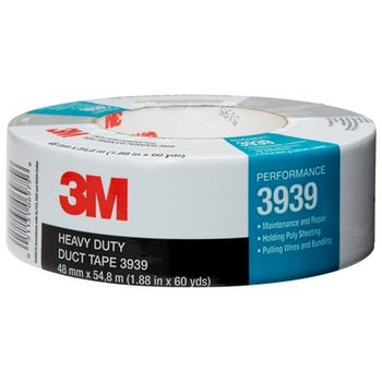3M Heavy Duty Duct Tape 3939 use in MRO/construction applications
