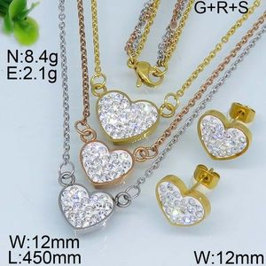 Fashion three tones heart style wholesale mexican jewelry set