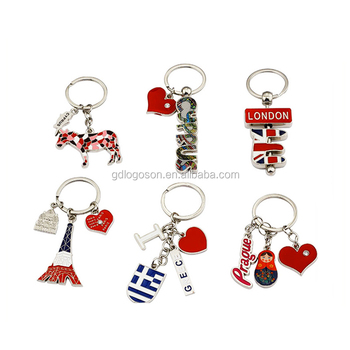Red Engraved Metal Keychain c2bb5305a3c1