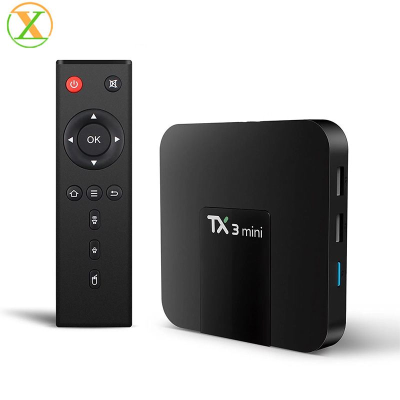 Alibaba.com / Xlintek New TX3 mini amlogic s905w smart tv box 2gb ram 16gb rom quad core android tv box 8.1