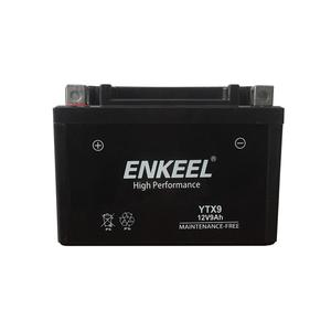 Best quality 12v 9ah mf motorcycle battery for factory price