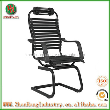Bw Black Bungee Cord Chair With Headrest/bungee Chair Color Black Without  Wheels In Office