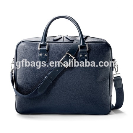 Large Black Genuine Leather Business Travel Bag Laptop Men Briefcase Portfolio Messenger Bags