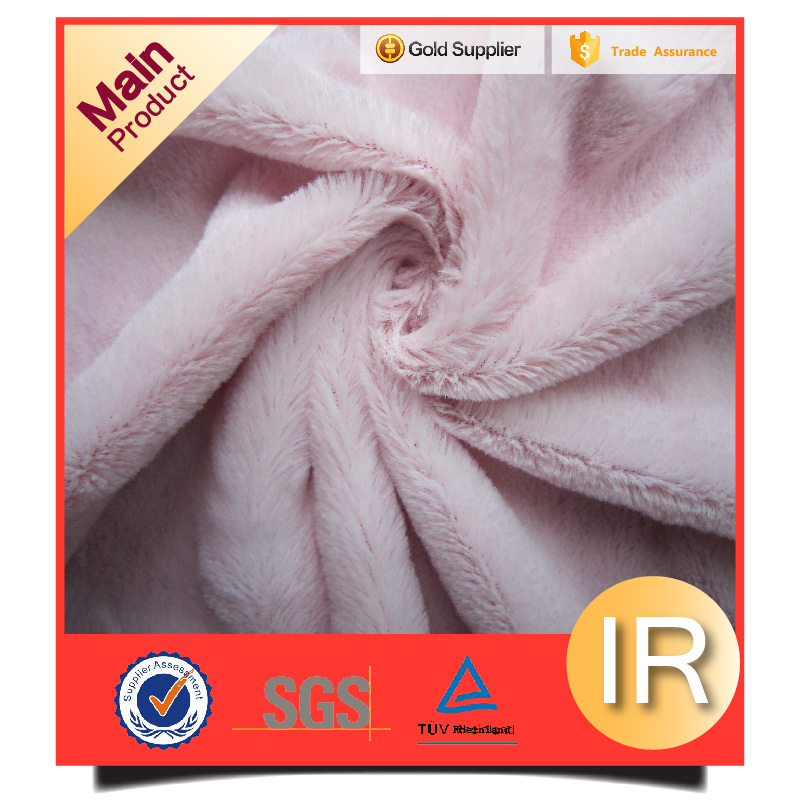 quantity assurance pv plush fabric for making soft toys factory