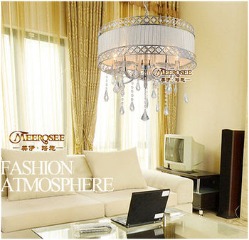 small bedroom csytal chandelier lamp with lampshade md8770