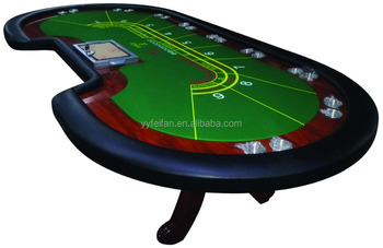 Custom Double Cup Holder Casino Poker Table,baccarat Poker Table