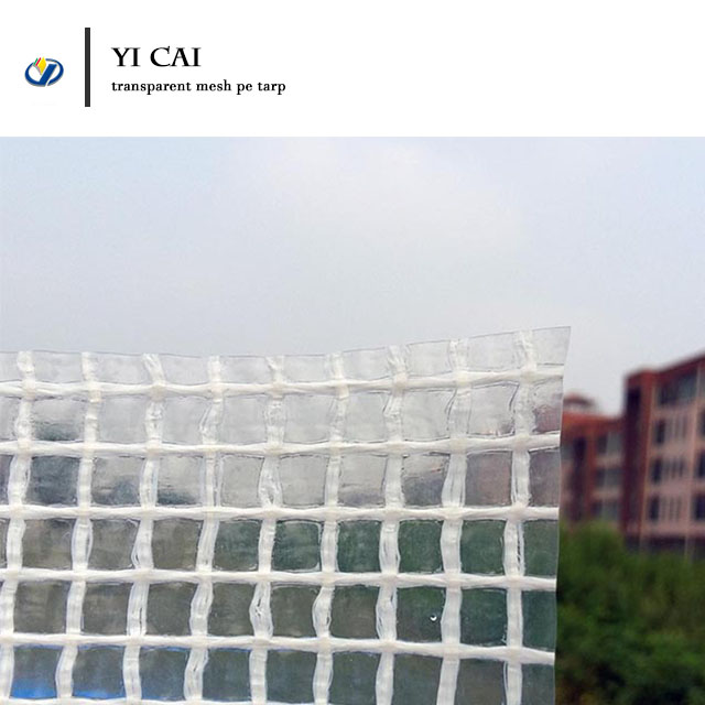 Top Quality double laminated cloth 100%PE clear mesh tarpaulin for sale,  View double laminated cloth, YI CAI Product Details from Chengdu Yicai