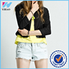 Yihao Fashion Lapel Ladies Jacket Outwear Long Sleeve Short Slim Coat