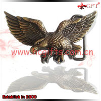 High quality antique deisgn eagle belt buckles with logo