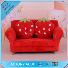 KIDS TODDLERS RED STRAWBERRY SOFA LOUNGE COUCH CHAIR