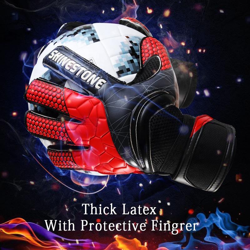 Shinestone Professional customized wholesale thick latex soccer professional goalkeeper gloves