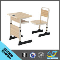 High quality standard classroom furniture comfortable school desk and chair set school furniture