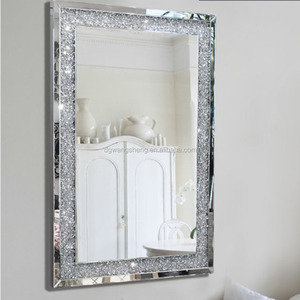 Popular style sparkly crystal decorative mirror