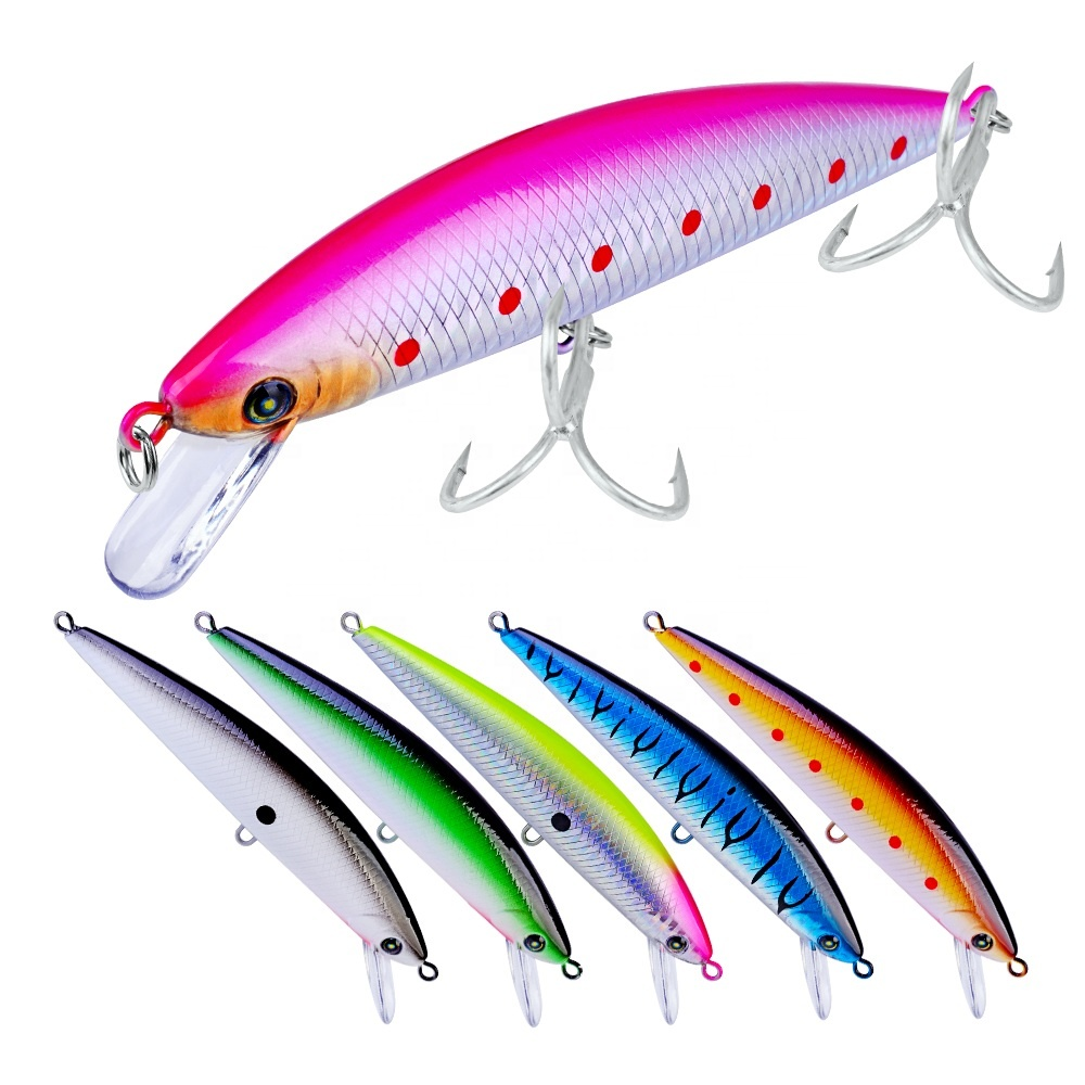 13cm 41g Hard Plastic Minnow Fishing Lure Artificial Hard Bass Bait Wobblers, 6 colors