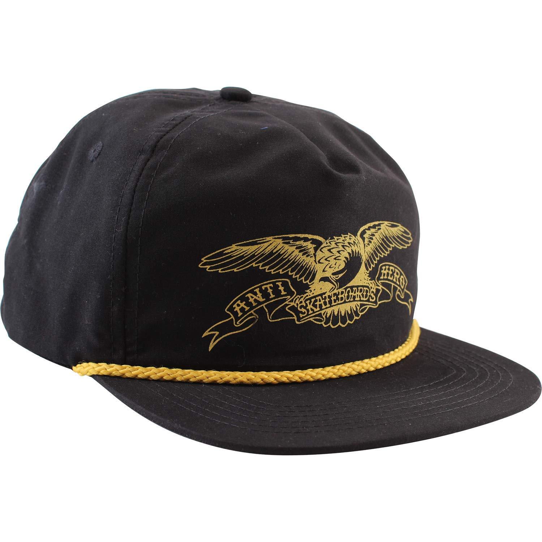 Get Quotations · Anti Hero Skateboards Basic Eagle Black Gold Hat -  Adjustable 375a54859e55