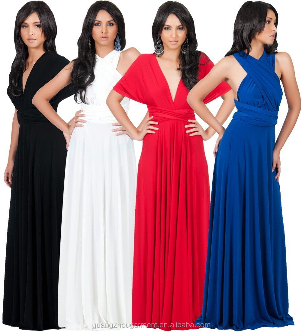 NEW Womens Bridesmaid Infinity Convertible Wrap Long Maxi Dress