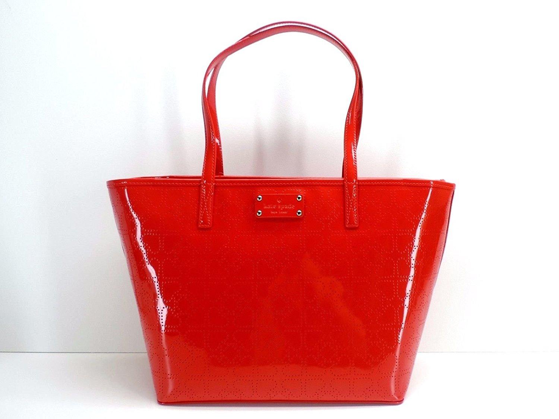 44dfc892297 Get Quotations · Kate Spade New York Small Harmony Metro Spade Tote Chili  Red Shoulder Handbag