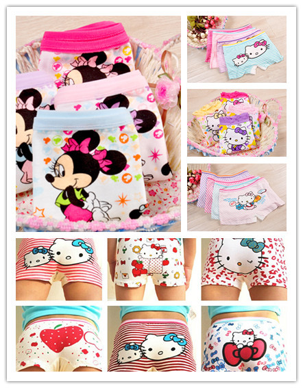 10pcs lot girl underwear panties boxer hello kitty hot sale children pants kids wholesale high quality