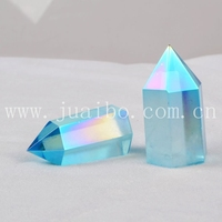 Amazing Blue raw clear aqua aura quartz crystal