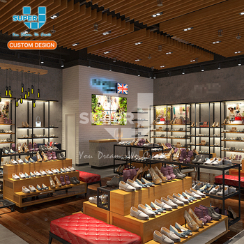 Custom Shoe Store Fixture Retail Wooden