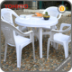 Outdoor Garden Beach Plastic Chair Table Stackable Durable Chair