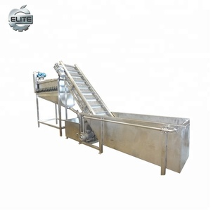 Industrial Air Bubble washer cleaning machine/fruit and vegetable cleaning with conveying hoister machine