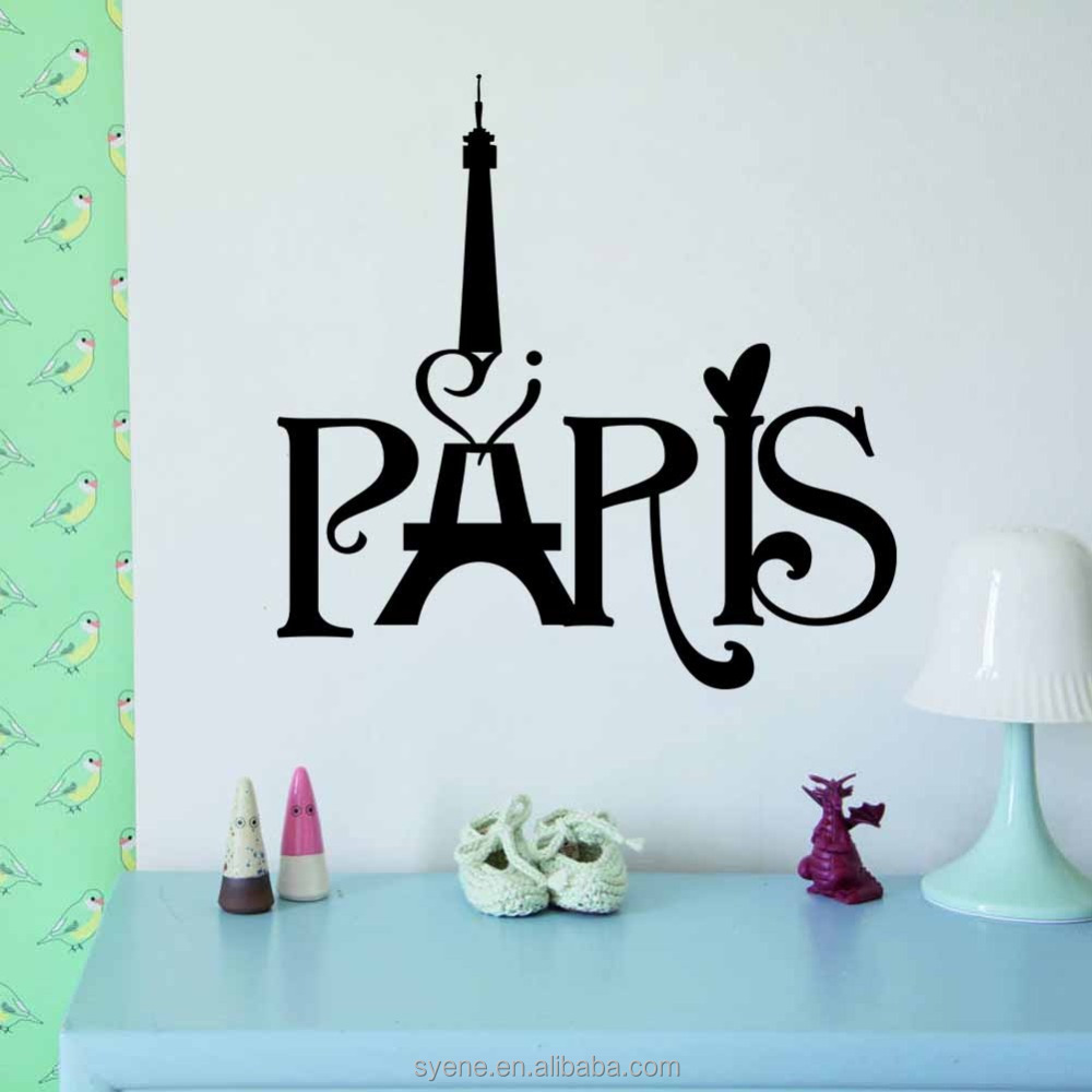 Paris Eiffel Tower Wall Stickers 3d Art Vinyl Waterproof Decorative Vinyl  Decal Stickers High Quality Art Living Walls Wallpaper   Buy Waterproof  Decorative ...