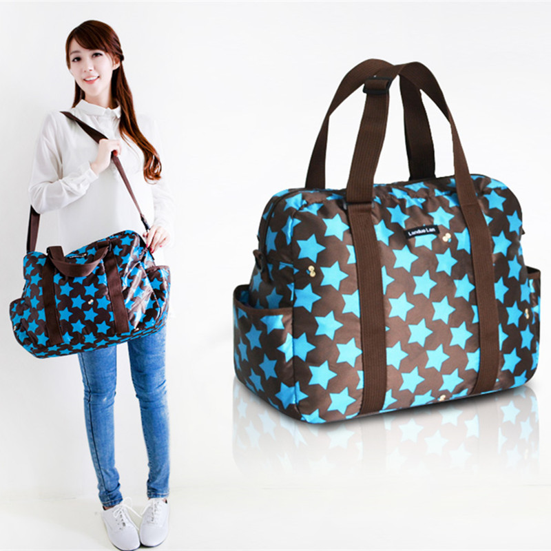 42*19*32CM High Quality Baby Messenger Tote Bag Fashion Diaper Bag Waterproof Mommy Changing Bags Baby Care Product 3 Colors