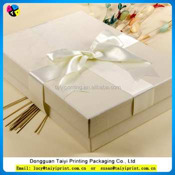 Dongguan Custom Luxury White Paper Nest Gift Box Scarves Clothing ...