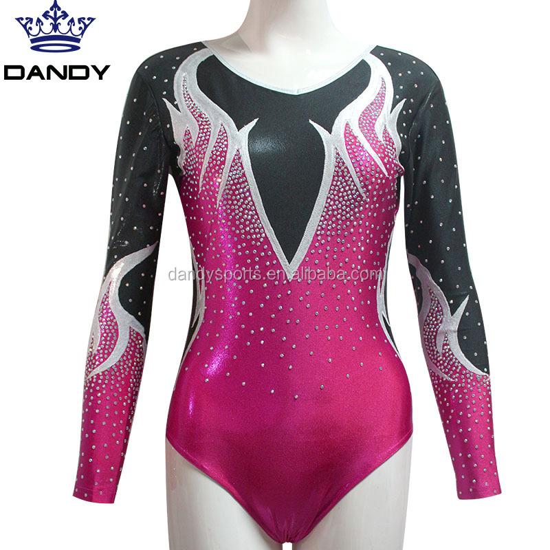 07adff81782c Wholesale Bling Crystal rhinestone children ballet leotards custom made  design kids Gymnastic Leotards