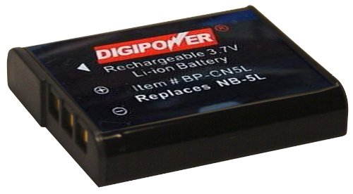DigiPower BP-CN5L Replacement Li-Ion Battery for the Canon NB-5L for use with Canon SD700IS, SD790IS, SD800IS, SD850IS, SD870IS, SD880IS, SD890IS, SD900, SD950IS, SD990IS, SD970IS & SX200IS Digital Cameras