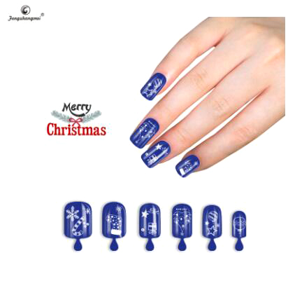 Fengshangmei popular nail tips artificial oem christmas fake nails designs